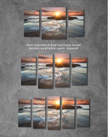 Coastal Beach Canvas Wall Art - image 2
