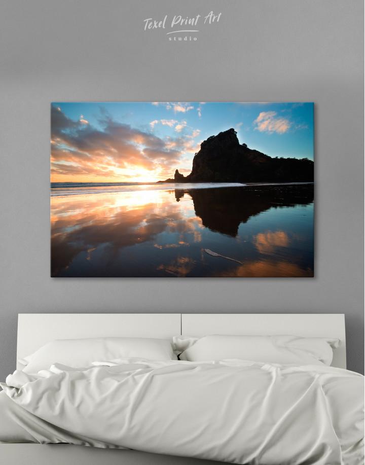 Ocean Sunrise Landscape Canvas Wall Art