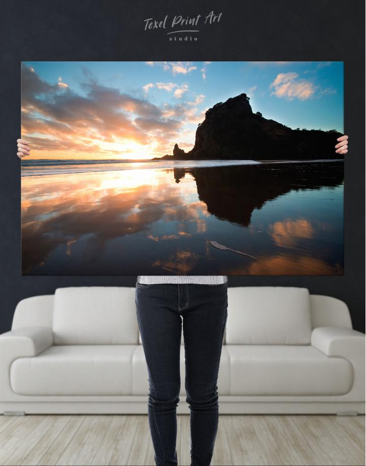 Ocean Sunrise Landscape Canvas Wall Art - Image 3