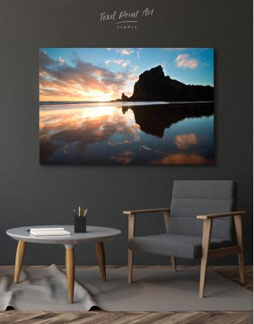 Ocean Sunrise Landscape Canvas Wall Art - image 1