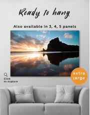 Ocean Sunrise Landscape Canvas Wall Art - Image 2