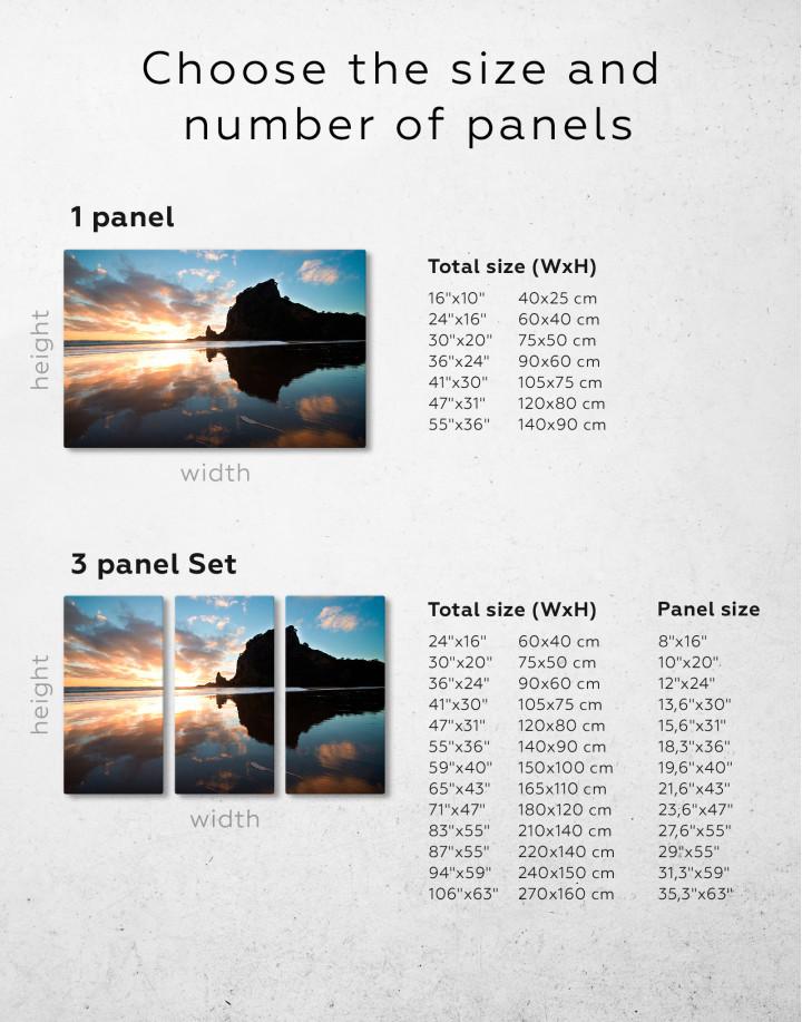 Ocean Sunrise Landscape Canvas Wall Art - Image 7