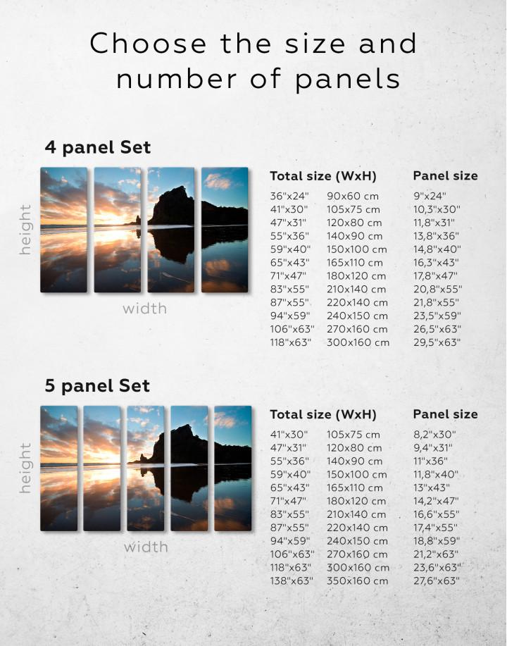 Ocean Sunrise Landscape Canvas Wall Art - Image 8