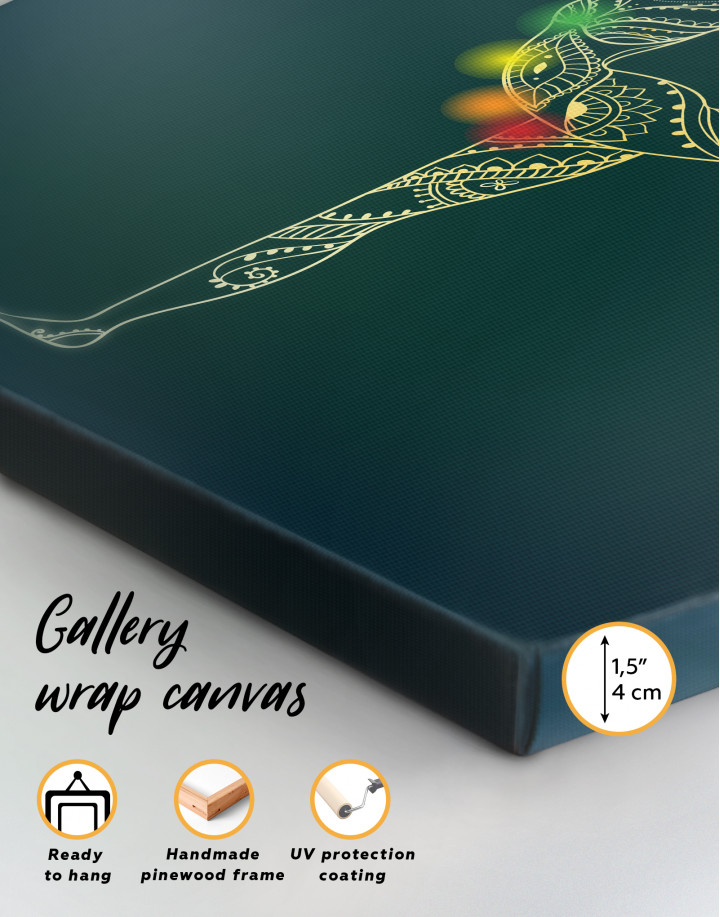 Chakra Yoga Canvas Wall Art - Image 3
