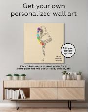 Chakra Yoga Canvas Wall Art - Image 1
