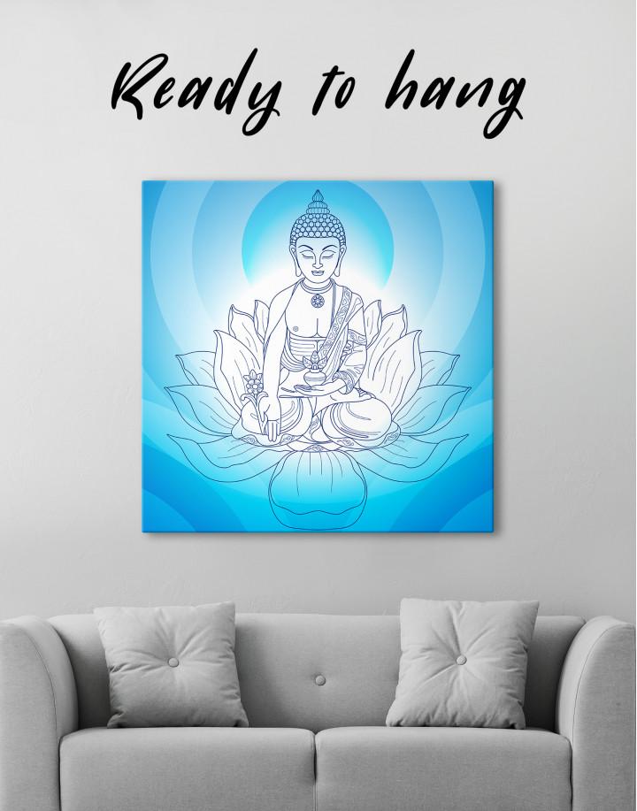 Buddha Yoga Canvas Wall Art