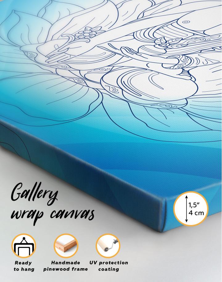 Buddha Yoga Canvas Wall Art - Image 2