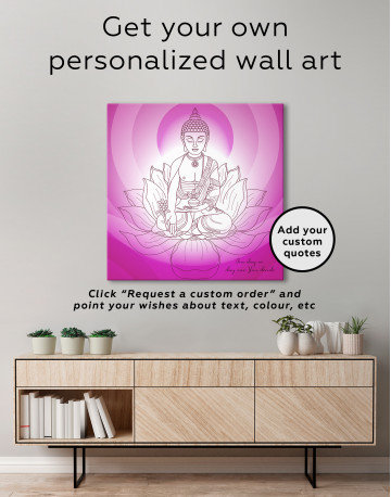 Buddha Yoga Canvas Wall Art - image 3