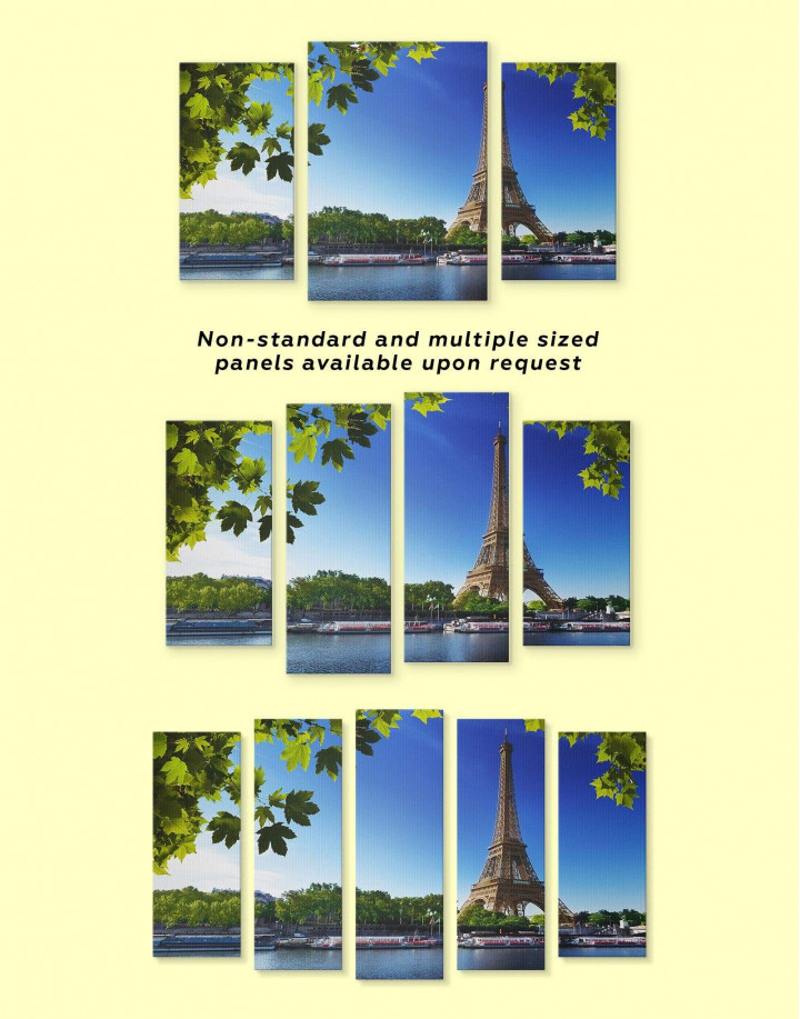 Eiffel Tower Paris Canvas Wall Art - Image 3