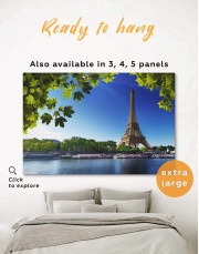 Eiffel Tower Paris Canvas Wall Art - Image 0