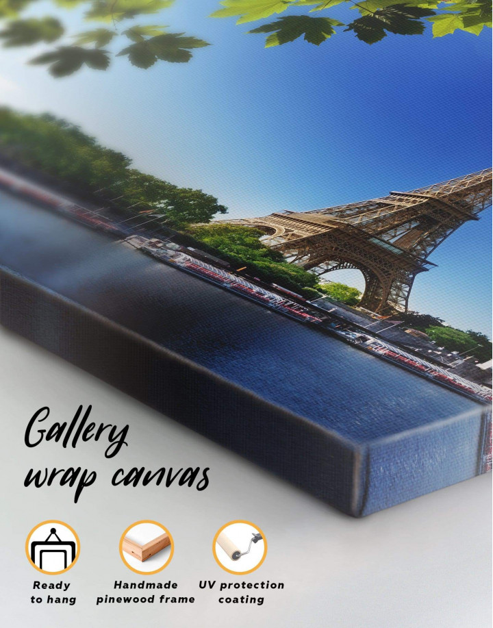 Eiffel Tower Paris Canvas Wall Art - Image 1