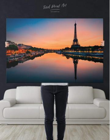 Scenic Eiffel Tower Paris Canvas Wall Art - image 1