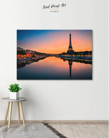 Scenic Eiffel Tower Paris Canvas Wall Art
