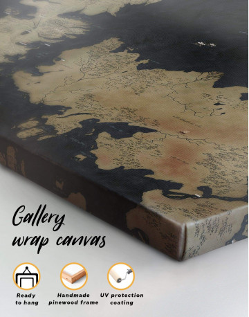 Game of Thrones Westeros Map Canvas Wall Art - image 4