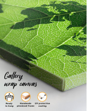 Green Leaf World Map Canvas Wall Art - Image 1