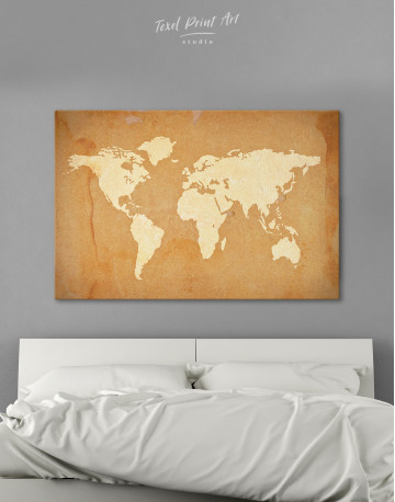 Abstract Sand World Map Canvas Wall Art - image 6