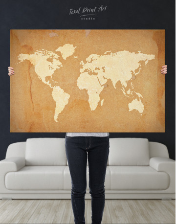 Abstract Sand World Map Canvas Wall Art - image 4