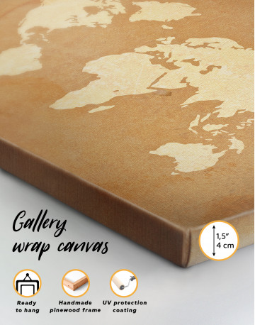 Abstract Sand World Map Canvas Wall Art - image 2