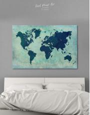 Modern Navy Blue World Map Canvas Wall Art - Image 6