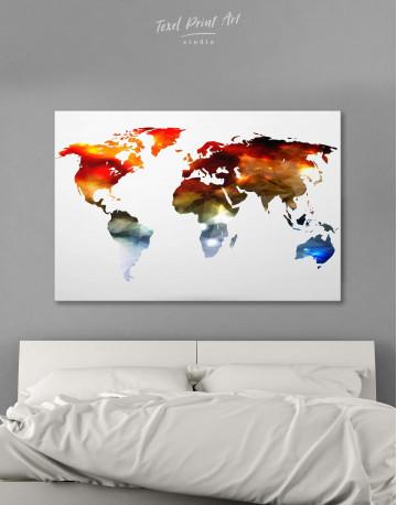 Minimalist Multicolor World Map Canvas Wall Art - image 6