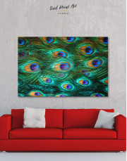 Peacock Feathers Canvas Wall Art - Image 0