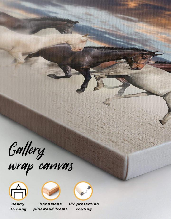 Running Horses Canvas Wall Art - Image 2