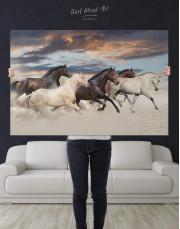 Running Horses Canvas Wall Art - Image 1