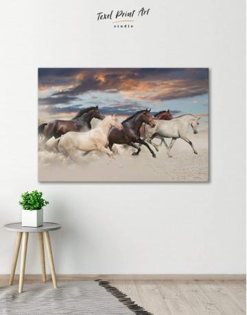 Running Horses Canvas Wall Art