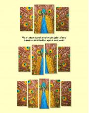 Gold Peacock Canvas Wall Art - Image 2