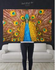 Gold Peacock Canvas Wall Art - Image 5