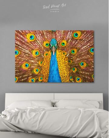 Gold Peacock Canvas Wall Art