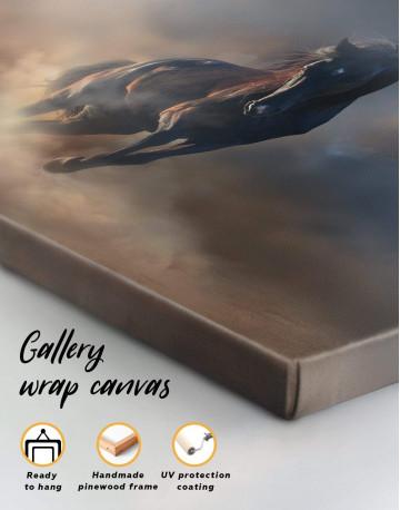 Brown Running Horse Canvas Wall Art - image 3