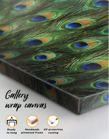 Abstract Peacock Feathers Canvas Wall Art - image 4