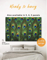 Abstract Peacock Feathers Canvas Wall Art - Image 0