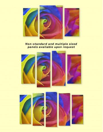 Multicolor Rose Canvas Wall Art - image 2
