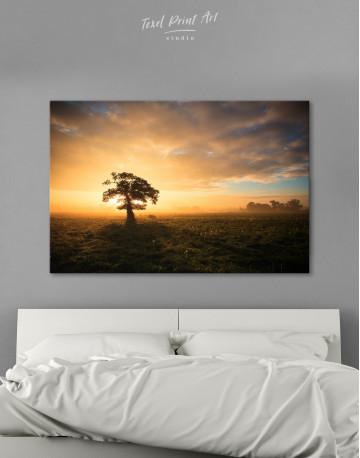 Tree Sunset Nature Canvas Wall Art