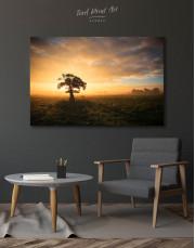Tree Sunset Nature Canvas Wall Art - Image 2