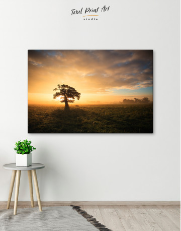 Tree Sunset Nature Canvas Wall Art - image 3