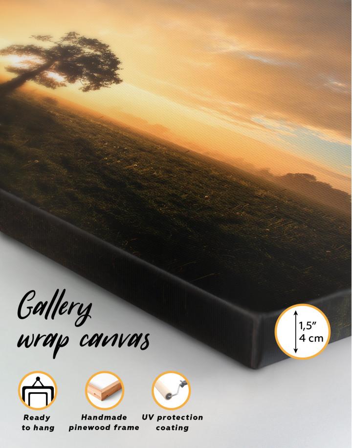 Tree Sunset Nature Canvas Wall Art - Image 9
