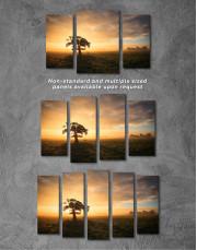 Tree Sunset Nature Canvas Wall Art - Image 5
