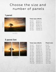 Tree Sunset Nature Canvas Wall Art - Image 7