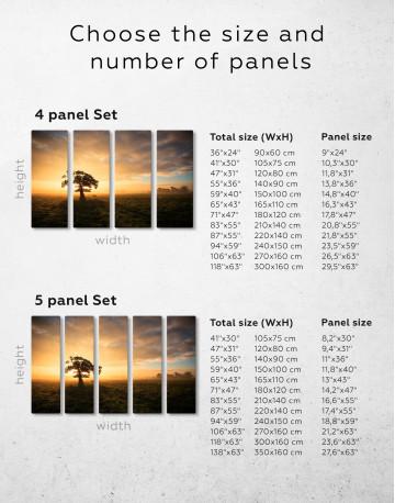 Tree Sunset Nature Canvas Wall Art - image 8