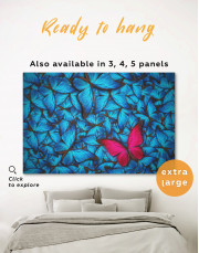 Blue and Purple Butterfly Canvas Wall Art