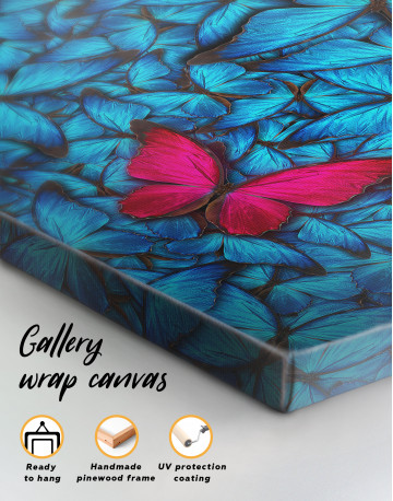 Blue and Purple Butterfly Canvas Wall Art - image 4