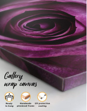 Tender Dark Rose Canvas Wall Art - Image 4