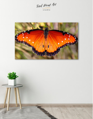 Butterfly with Spread Wings Canvas Wall Art