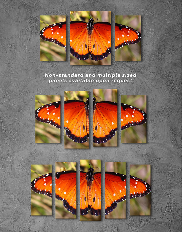Butterfly with Spread Wings Canvas Wall Art - Image 3