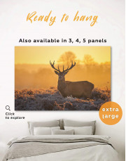 Wild Stag Canvas Wall Art - Image 0