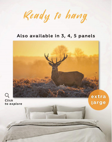 Wild Stag Canvas Wall Art