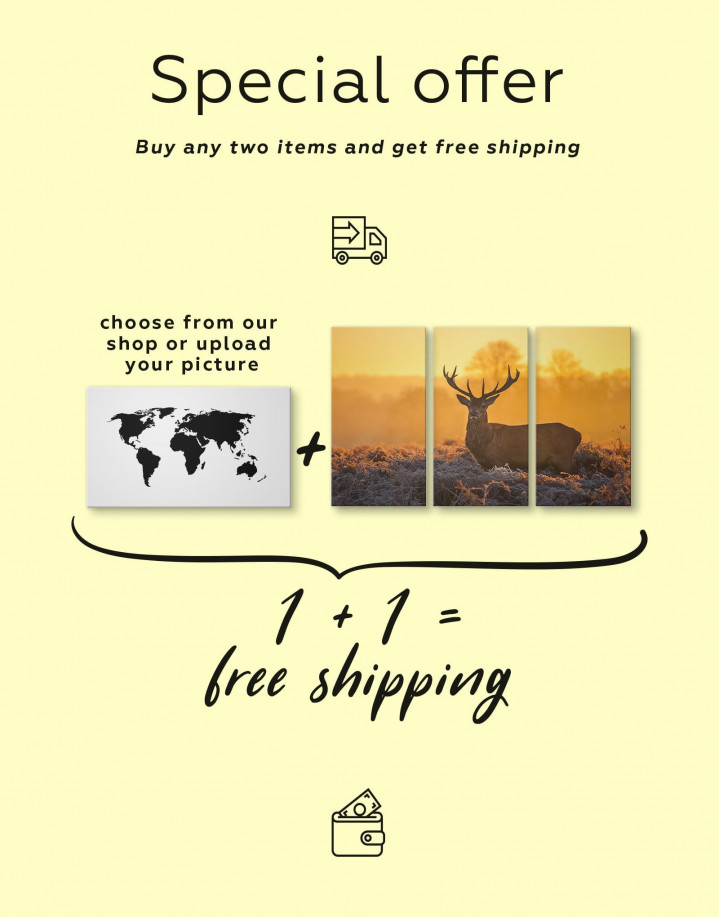 Wild Stag Canvas Wall Art - Image 4